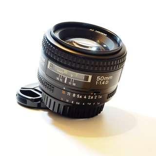 Nikon Nikkor 50mm f1.4 AFD Lens (USED)