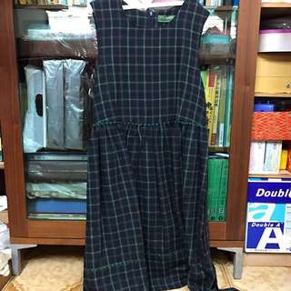 全新格子綠色裙子