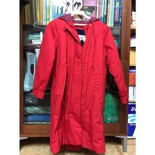 全新紅色刷毛內裡外套