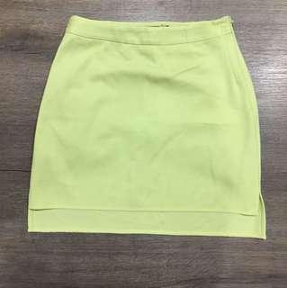 Yellow work skirt