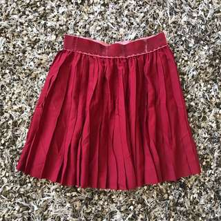 Divided by H&M red skirt size 34