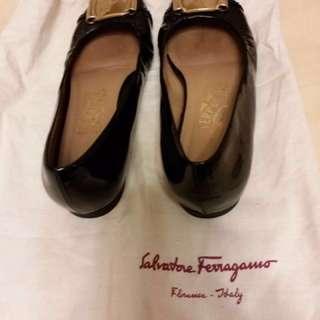 Authentic Ferragamo black shoes