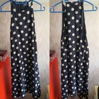 Polka top Flare dress