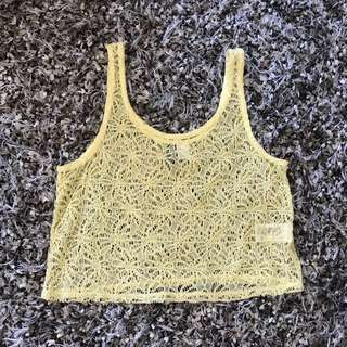H&M outer bikini beach top yellow