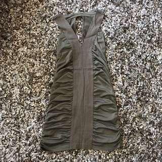 Hypnosis bodycon dress army size S
