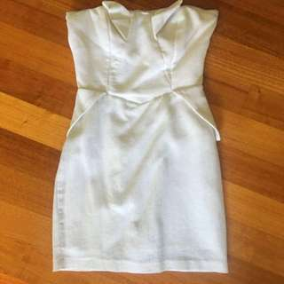 Bardot Strapless Mini Dress