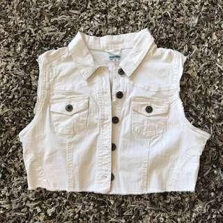 White vest size L