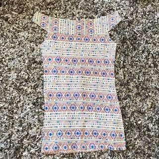 Sabrina abstract dress