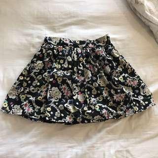 Black abstract skirt