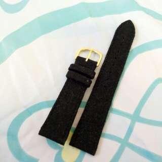 特價20mm黑色絨布真皮低錶帶