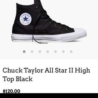 Converse II Black And White High tops