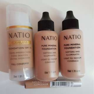 NEW Natio Foundation & Concealer Products