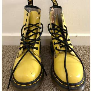Genuine Yellow Dr Marten Boots