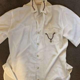 70s button up shirt