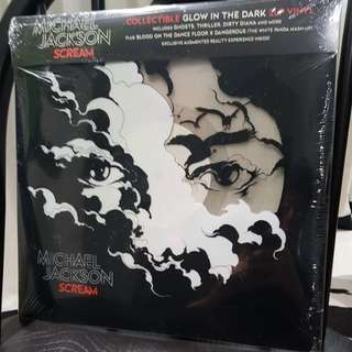Michael Jackson Scream 2017 vinyl record 2 LP glows in the dark
