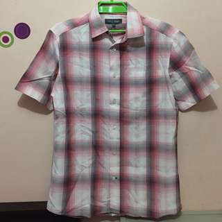 MARKS & SPENCER pink/gray short sleeves polo