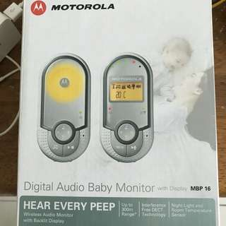 Motorola digital audio baby monitor mbp 16