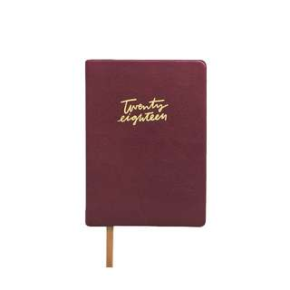 The Paper Bunny Compact Burgundy Leather 2018 Planner