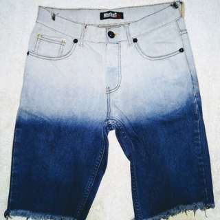 Ragged-look Ombre Markus Shorts