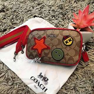 Coach crossbody Signature with Varsity Patches