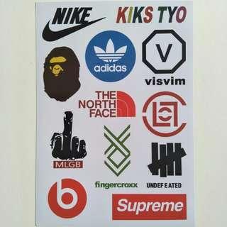 Brand Logo Stickers