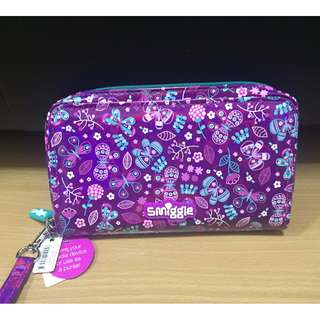 Brand New Smiggle Cute Zip Media Pouch (Purple)