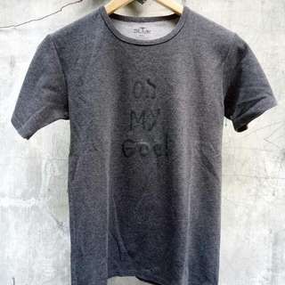 Oh My God! Dark Gray Tee Culture Shirt