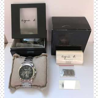 Agnes B Chronograph Steel Hand-Watch