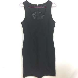 Forever21 Seethru Back Black Dress