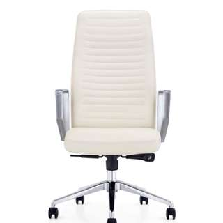 Brand new Dart Executive Leather Swivel Office Chair (White)