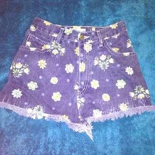 Vintage festival denim high waist shorts size 6