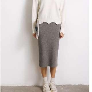 (代購)針織合身長裙 休閒棉裙