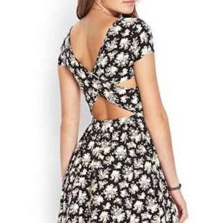Forever21 Floral Crossback Dress