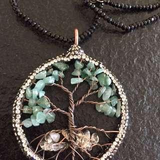 Semi-precious Gemstone With Chain- The tree of life
