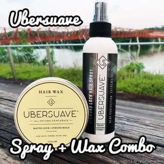 [FREEMAIL] UBERSUAVE SPRAY WAX PACK [Wax + Hair Spray]