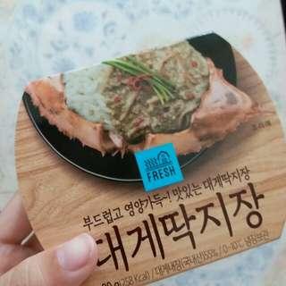 熱賣  韓國醬油蟹蟹膏[得番最後一盒]