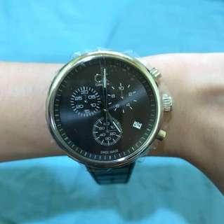 全新CK三眼手錶K2N281C1