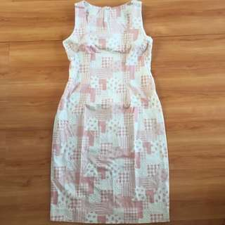 Dusty pink sleeveless dress