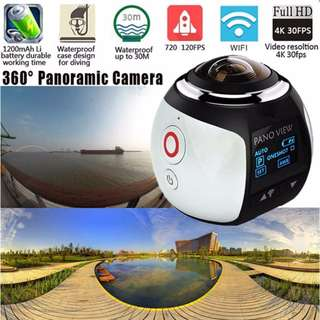 360 Action Camera Ultra HD 4K Build in WI-FI 16MP 3D Waterproof Sports Camera 30m Driving VR Camera Action Video Cam