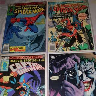Selling my various Marvel and DC Comics singles and TPBs Spiderman Watchmen KickAss