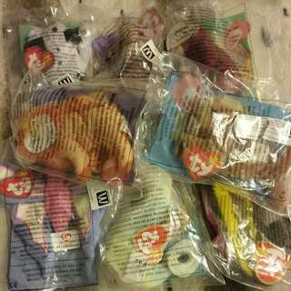 Mcdonalds ty babies happy meal toys 2001 x 8