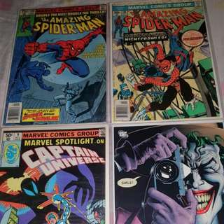 Selling my various Marvel and DC Comics singles and TPBs Graphic Novels Spiderman Watchmen KickAss The Killing Joke