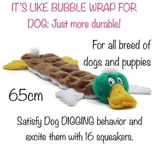 BRAND NEW Outward Hound Digging Matz Dog Squeaky Toy 16 Squeaker for Dogs Long Body 16 Squeaker, Mallard