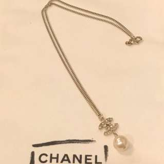 Chanel pearl necklace 香奈兒淺金色珍珠頸鏈16吋
