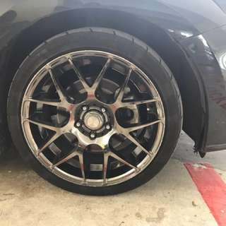 18 inch rims ( ALL 4 RIMS AND TYRES)