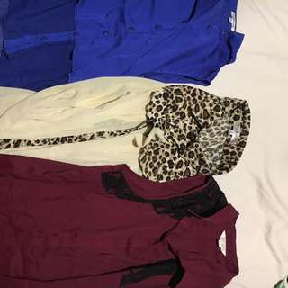 Summer sleeveless tops! (Maroon, blue and leopard)
