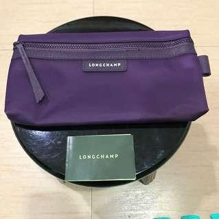 全新品 LONGCHAMP 紫色 化妝包