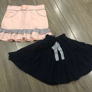 Take 2 skirts for girls aged 3-4 yrs (Rustans Kiddos; Teaberry)