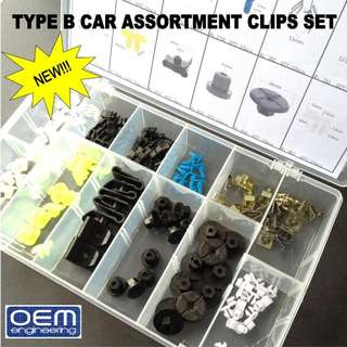 Now Available, OEM Engineering TYPE B Car Assortment Clips Set