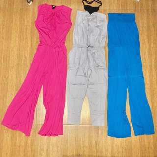 H&M and Forme Jumpsuit 3pcs